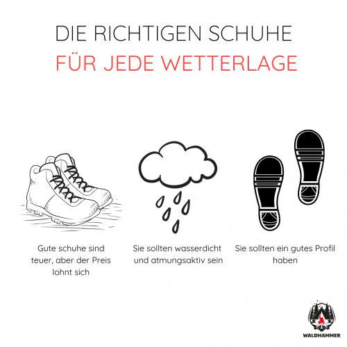 Die richtigen Schuhe für jede Wetterlage