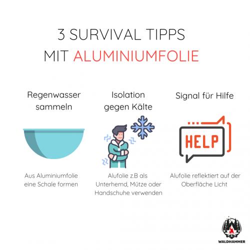 3 Survival-Tipps mit Aluminiumfolie