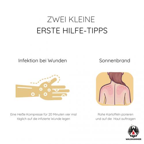 Zwei kleine Erste-Hilfe-Tipps