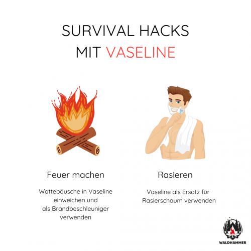 Survival Hacks mit Vaseline
